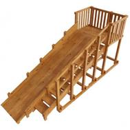 Зимняя горка деревянная - САМСОН ИСЛАНДИЯ (лак), высота 2,4, фото 1