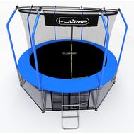 Уличный батут для дачи с защитной сеткой - I-JUMP ELEGANT 8FT BLUE, фото 1