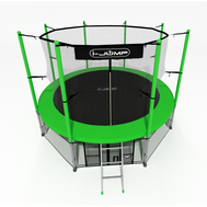 Уличный пружинный батут с защитной сеткой - i-JUMP 10FT GREEN, фото 1