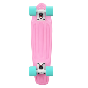 Скейтборд пластиковый PLAYSHION FS-PS001P (Розовый), фото 5