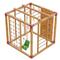 Детский домашний спортивный комплекс - САМСОН ФАРУ (сосна), канат, рукоход, турник, кольца, качели, фото 1